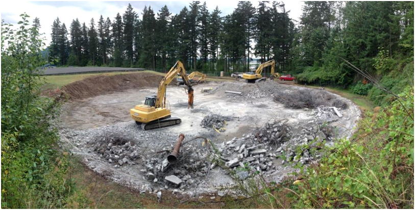 Demolition of 2 MG Reservoir