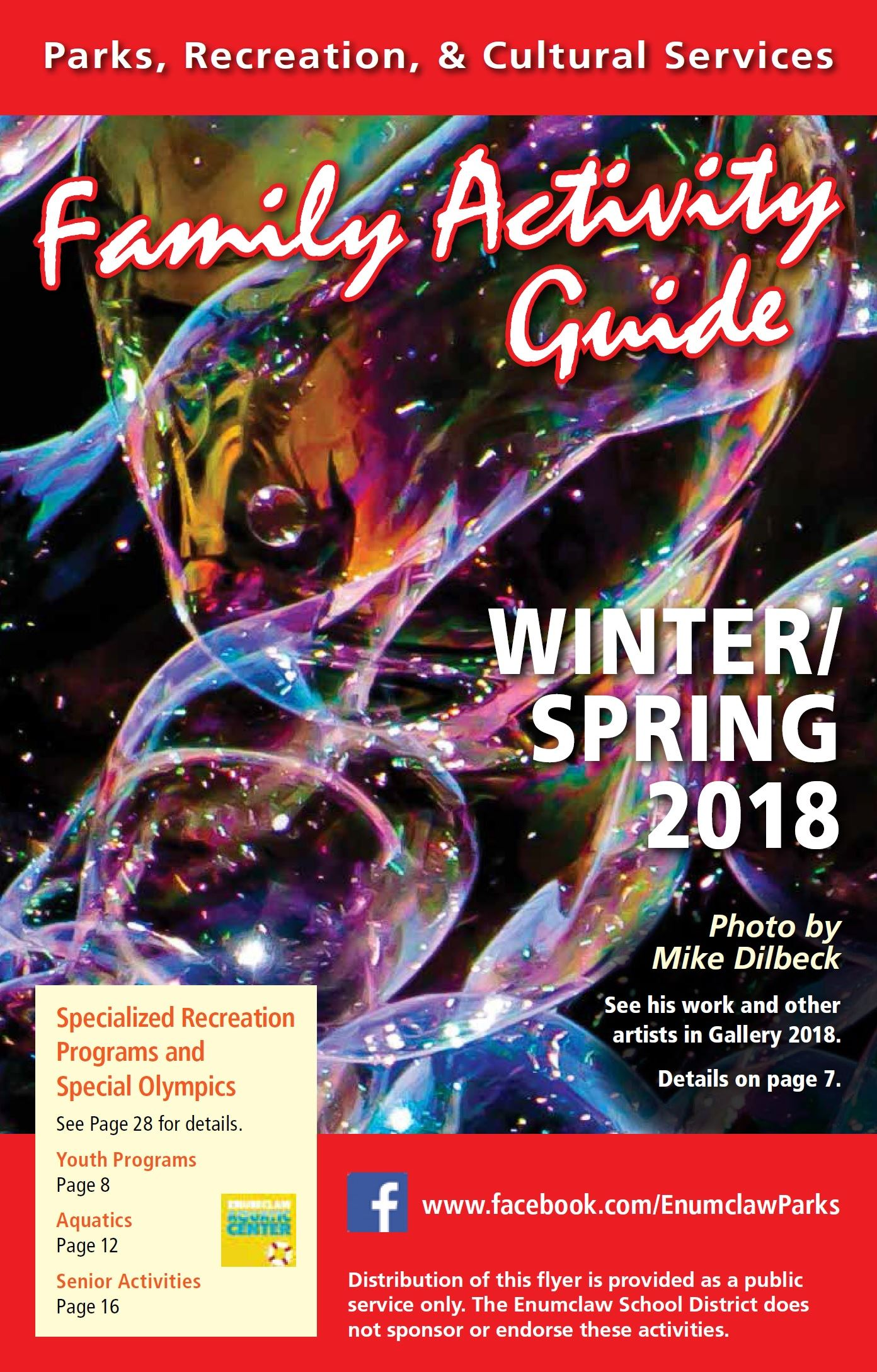 2018 Winter/Spring Activity Guide Cover