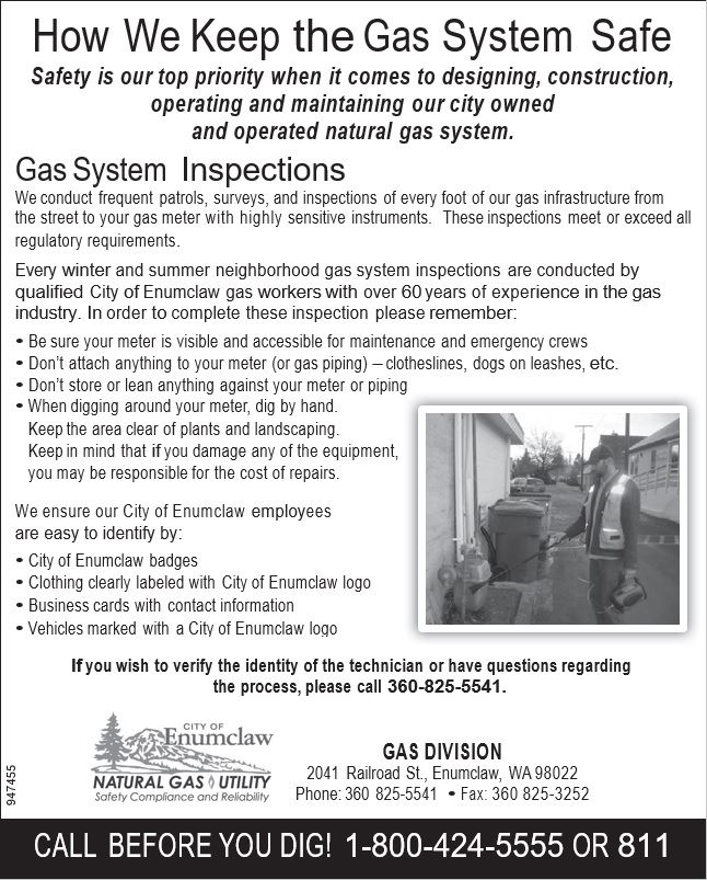 Gas Fall Notice