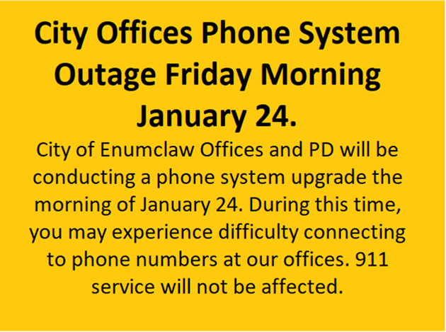 Phone Outage Notice